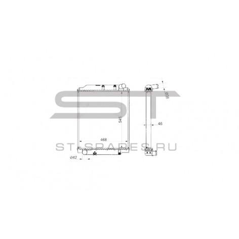 Радиатор охлаждения HINO 300 евро 4 1640078A30